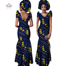 New African Print Mermaid Dresses for Women Dashiki Plus Size African  Clothing Bazin Dress Traditional Clothes 68f786257024