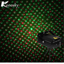 Music Control Green Red LED Stage Laser Lamp Mini DJ Club Disco Projector Sound Control Laser Stage Effect Light Party Christmas(China)