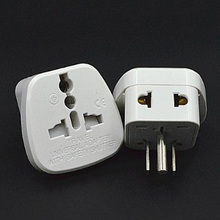 White 10A 380V CE certified connector with security door AU UK EU to US travel plug adaptor for Canada Mexico Taiwan
