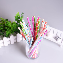 25pcs Mixed Color Heart Paper Straws Biodegradable Straws Paper Drinking Straw for Party Wedding Decoration Birthday favors