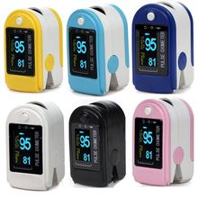 Free Shipping fingertip pulse oximeter spo2 monitor pulse oximeter module CMS 50D SPO2 and pulse rate with color box packing 1PC