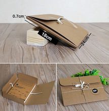 SIZE: 24*18*0.7cm Natural Kraft Paper Envelope Gift bag/box ,Brown DIY Packing envelope Boxes for Books/Scarves/Cards, 80pcs/lot