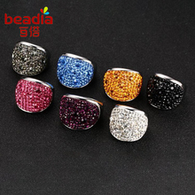 1pc 2017 New Personality fashion Mud Sticky Color Rings Vintage a Variety Of Colors Optional Ring Jewelry For Women Best Gift(China)