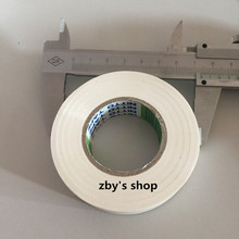 73mm x 18mm PVC Insulating Tape White for Electrical Wire 20M(China)