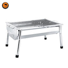 High Strength 430 Stainless Steel BBQ Oven Outdoor Portable Exquisite Barbecue Charcoal Grill Fits for 3-5 Person(China)