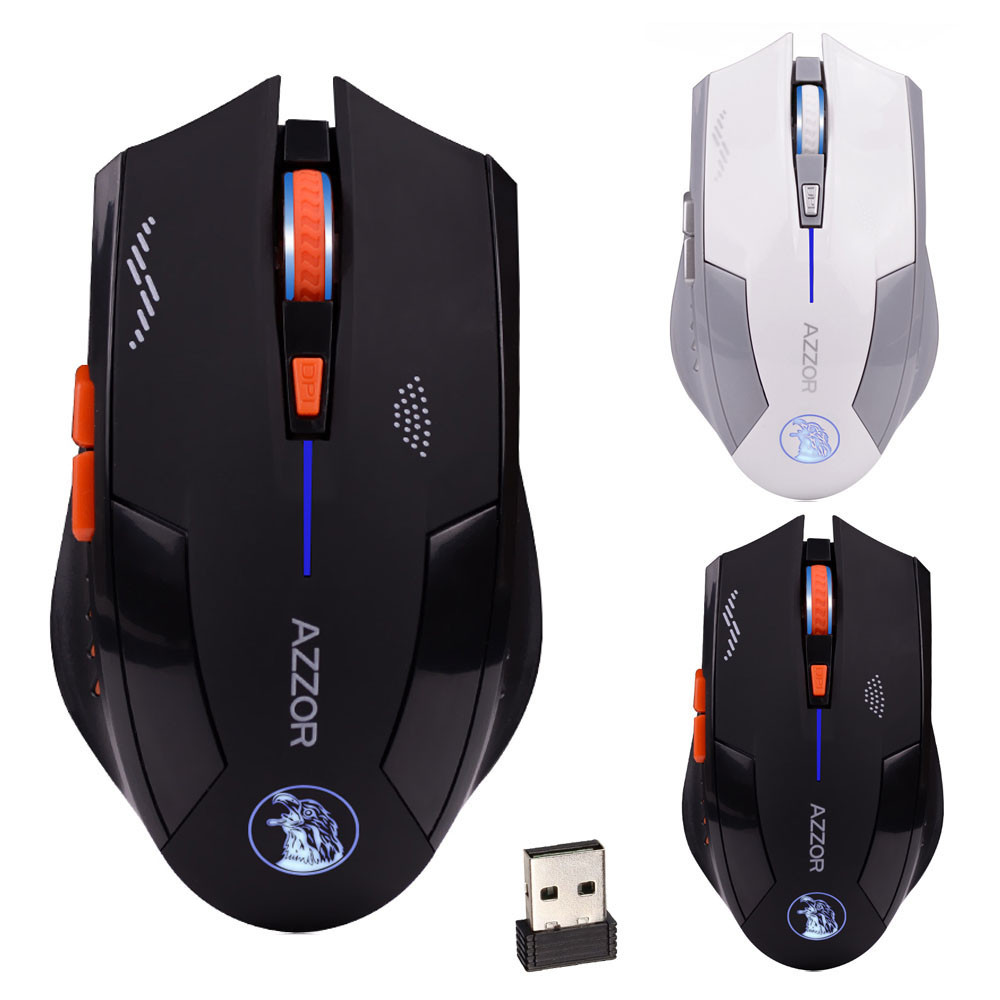 Beautiful Gift New  2.4GHz Wireless 6D Rechargeable 2400DPI 6 Buttons Optical Usb Gaming Mouse Wholesale price Sep1