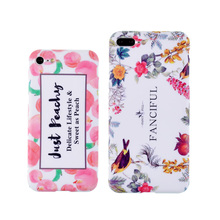 Sweet peach spring flowers TPU Case for iphone 7 7Plus IMD Silicon Case For iphone 6 6s 6plus phone back cover