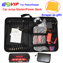Car Jump Starter Portable Power Bank 4USB Power Bank Multi-function Vehicle Start Jumper Emergency Auto Battery Booster Starter