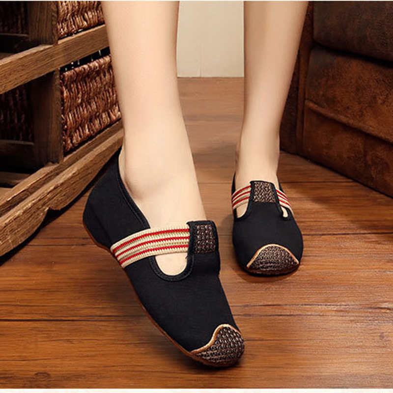 New fashion simple solid color embroidered fashion exquisite canvas Casual flats shoes women Comfort ladies walking shoes<br><br>Aliexpress