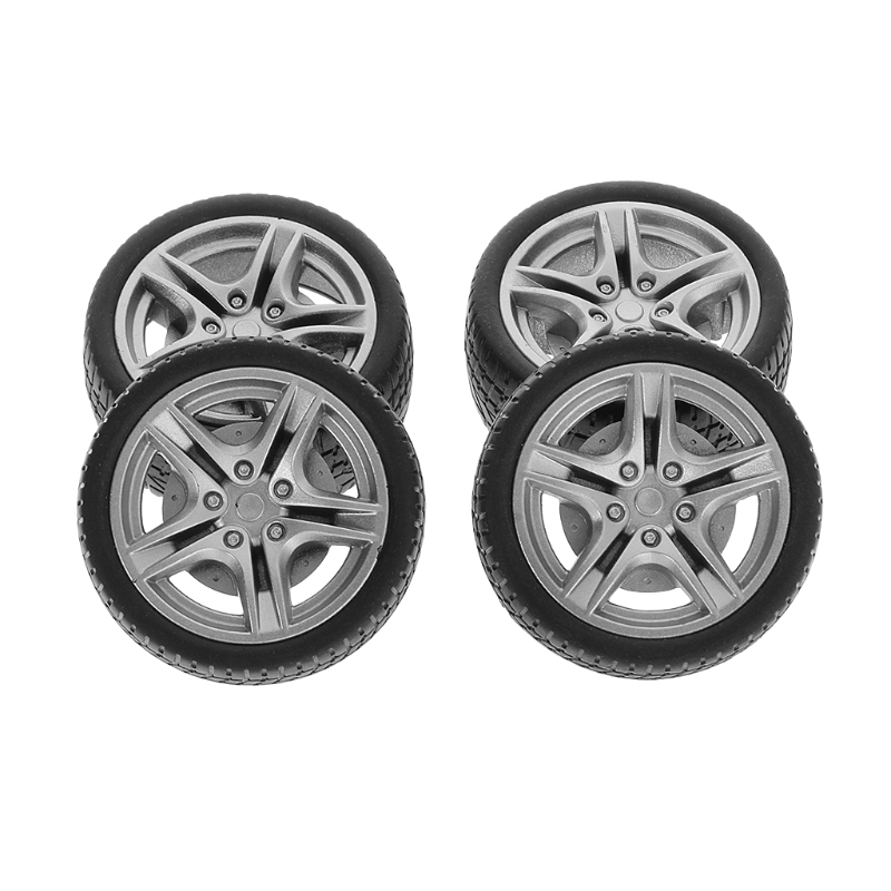 4pcs 48mm 1:10 Simulation Rubber Wheel Tire Wheel Toy Model DIY RC Spare Parts Remote Control Toys Parts(China)