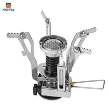 New Arrival Portable Outdoor Stoves Professional Camping Folding Stove Head Lighter Aluminum Alloy Base For Outdoor Picnic(China)