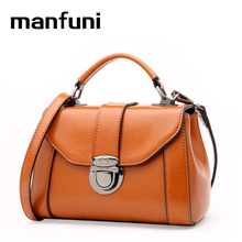 MANFUNI Top-Handle Bags Ladies Genuine Leather vintage mini Shoulder Crossbody bags women famous brands michael hors 0901
