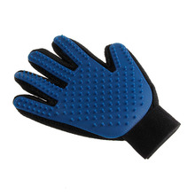 Product Silicone True Touch Glove Gentle Efficient Pet Grooming Dogs Cats Bath Pet Supplies Blue pet Accessories(China)
