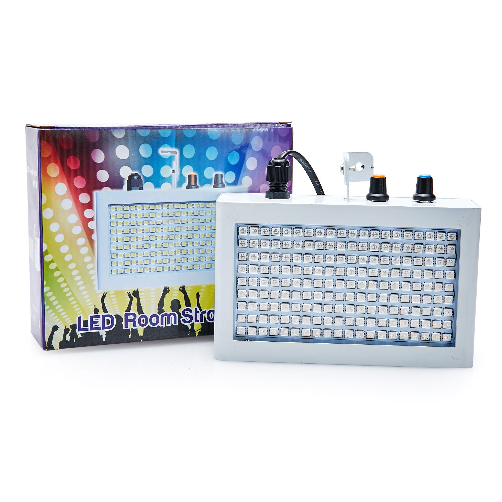 High quality Mini Sound Control SMD5050 180LEDs Strobe Light Flash Disco Party DJ Bar Lamp Music Show Projector White Lighting<br><br>Aliexpress