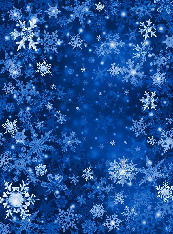 10x20ft(3x6m) christmas backdrops photography Snowflakes fluttering blue space  photography background ZJ<br>