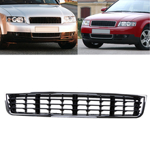 Racing Black ABS Type Auto Car Front Middle Grill Grille Center Decoration Fit For Audi A4 B6 2002 2003 2004 2005(China)