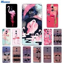 DIY Custom Cases For Xiaomi 5S / 5S Plus For Xiaomi Redmi Note 4 or Pro / 4X Shell Transparent Soft TPU Flamingo Printing(China)