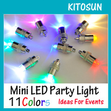 (100pcs/lot) Battery Operated 11Colors Super Bright LED Mini Party Light For Balloon Lanterns Vase Flower Lighting