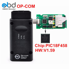 New High Quality Opcom V1.59 With PIC18F458 Chip CAN BUS OBD2 OP-COM Scanner For Opel Diagnostic Tool Op Com Free Shipping