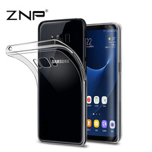 ZNP Transparent Case For Samsung Galaxy S8 Ultra Thin Clear Soft TPU Silicone Cover Case For Galaxy S8 Plus Coque Cases