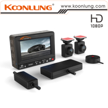 Original Manufacturer 78x57x23mm Dual Camera Car DVR 1080P Full HD Dual Lens + Wire Console + GPS and E-Dog Quality Guarantee
