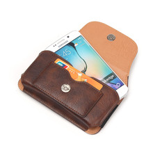Universal Leather Pouch Case 5.1'' Phone Bag for Samsung Galaxy S7/S6/S5 Outdoor Carry Bag Loop Belt Holster Cover