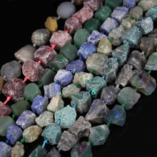 Natural stones,strawberry quartz,aventurine,lapis,amazonite,labradorite,fluorite,8 kinds nugget Gems Loose Beads for choice