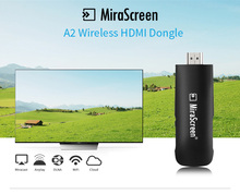 MiraScreen A2 Wireless HDMI Dongle Media TV Stick Support Miracast Airplay DLNA Connected PC Smartphone IPad to TV Projector(China)