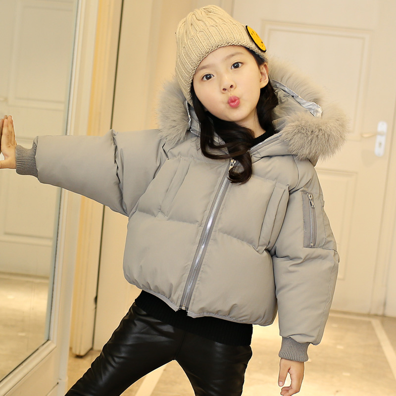The girls clothes 2017 new autumn and winter short children clothing baby bread thick jacket casual fashion winter coat<br>