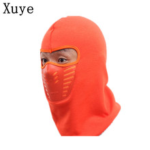 XUYE men Winter warm Fleece Thermal  Face mask Motorcycling Biking Windproof neck Skullies Beanies coldproof man hat hood