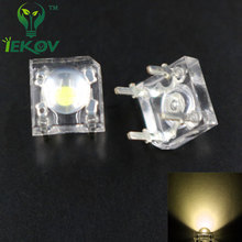100PCS LED 5MM Warm white Piranha Super Flux Leds 4 pin Dome Wide Angle Super Bright  Light  Lamp For Car Light  High Quality
