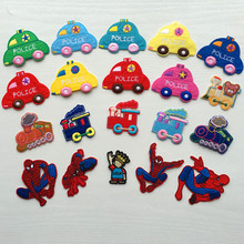 cartoon clothes embroidery fashion subsidies cars and Spiderman patch embroidery scrapbooking buttons applique iron on patches(China)