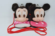 Mickey Mouse Minnie Mouse Baby Children Coin Bag Plush Toy Kids Birthday Gift