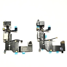 QSMHYM For iPhone 5S Earphone Flex Cable Microphone Charger Dock Charging Port Flat Cable Good Quality
