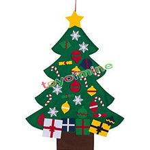 New Deluxe Felt Christmas Tree Children Toddler Kids UK Christmas Felt Tree Door Wall Hanging Preschool Craft Fuzzy Felt