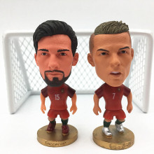 2PC/LOT Soccerwe Stand Andre Gomez C.ronaldo Doll ( Portugal 2016 Euro Champions ) Red