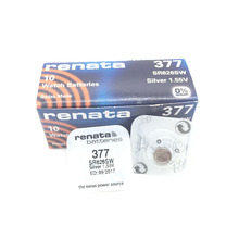 10pcs RETAIL Brand New Renata LONG LASTING 377 SR626SW SR626 V377 AG4 Watch Battery Button Coin Cell Swiss Made 100% Original