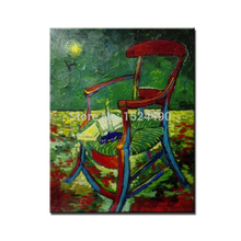 Gauguin's Chair Of Vincent Van Gogh 100% Hand Made High Q. Reproduction Oil Painting On Canvas Wall Art Picture For Living Room(China)