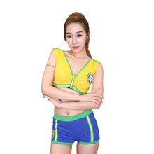 Many Style Fashion School Girls Football Cheerleaders Costumes Sexy Women Sport Costume 2pcs World Cup Costumes