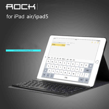 For Apple iPad Air / For Apple iPad Pro ROCK 9.7 inch Tablet PC Bluetooth keyboard case A1474(China)