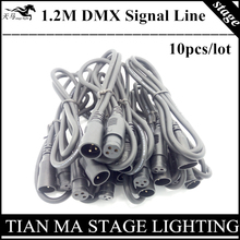 10PCS / 1.2M DMX signal lines 3-PIN XRL DMX cable professional stage lighting equipment