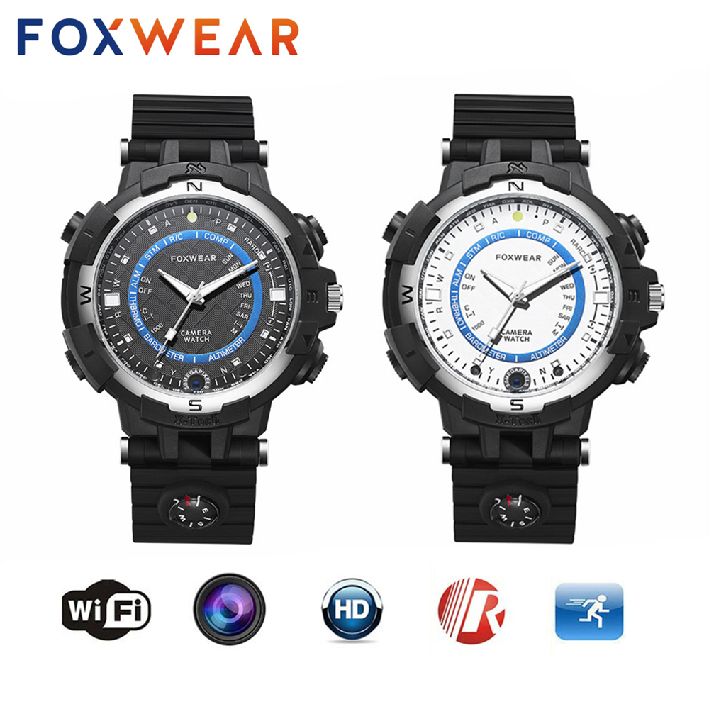 FOXWEAR Pocket Mini Sport HD 1280*720 Video Recording Smart Watch Support WIFI P2P IP Camera DVR Voice Recorder for Bicycle Car(China)