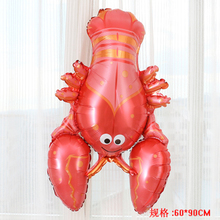 giant balloons birthday party decoration supplies ballon globos big helium foil birthday party shrimp shaped animal balloons(China)