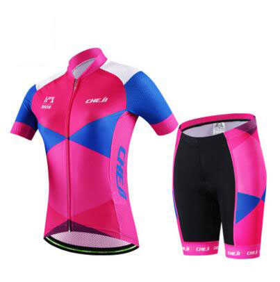 2017 new pink jersey short sleeve  women clothing wicking breathable outdoor summer bike cycling Jersey<br>