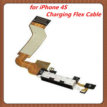 10pcs  Dock connector  charging USB   port   flex cable    for iphone  4S   4GS  replacement   dock flex for iphone 4S