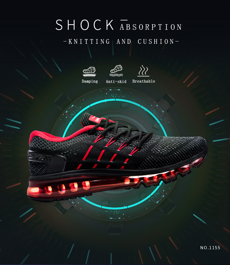 17 Air Cushion Running Shoes Breathable Massage Sneakers Man Jogging Sport Sneakers for Outdoor Walking Shoe Run Comfortable 2