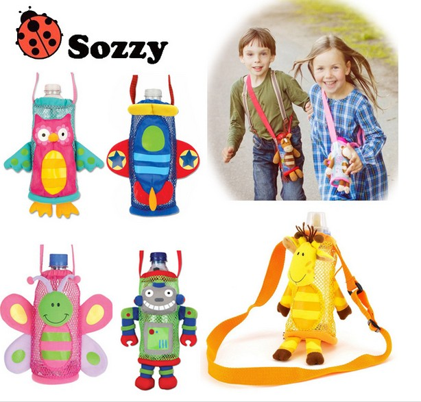 wholesale plush toy gift animal giraffe owl robot butterfly plane shape baby kettle cute mesh bag water bottle package 1pc<br><br>Aliexpress