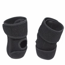 1Pcs Enhanced Adjustable Compression Elbow Support Wrap Strap Guard Tennis Basketball Sports Exercise - Black