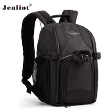 2017 Jealiot Multifunctional Professional Camera Bag laptop Backpack Video Photo Bags case waterproof shockproof for DSLR Canon