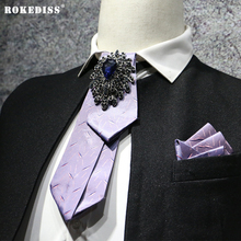 ROKEDISS 2017 New British high - grade diamond bow tie imports men 's casual business dress tide men' s tie tie Z303(China)